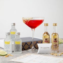 Champagne Cosmopolitan Cocktail Gift Kit with Vodka, Champagne Liqueur & 23ct Edible Gold Leaf