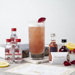 Raspberry Rose Gin Fizz Cocktail Gift Set Inc. London Dry Gin, Raspberry Liqueur & Rose Water Syrup
