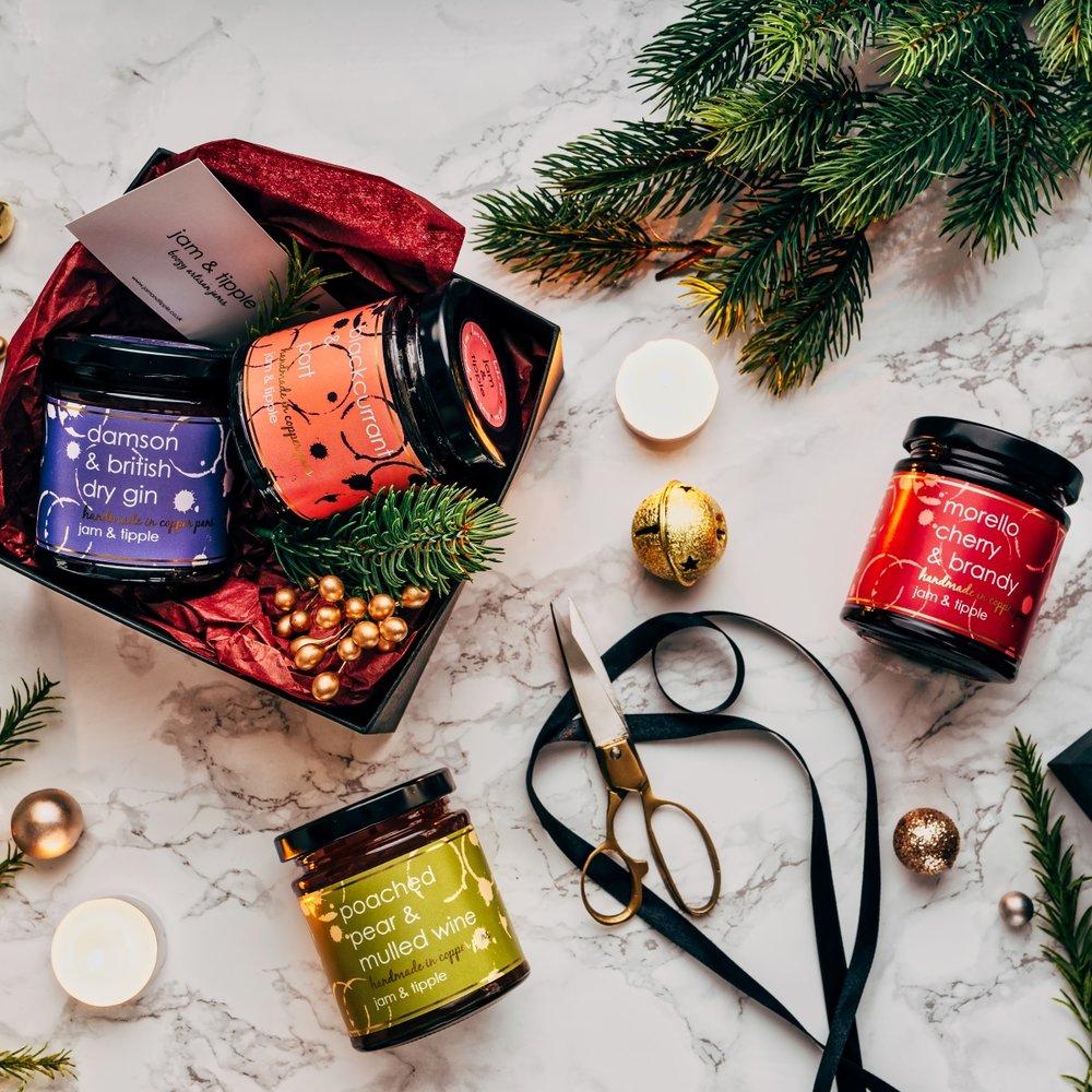 Christmas Jam.Jam Tipple Christmas Jam Gift Box Inc Alcohol Infused Dry