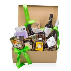 All-time Classic Delicacies' Greek Gift Box Inc. Wine, Herbs, Chocolate & Honey