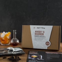 Whisky & Bourbon Botanical Cocktail Garden & Infusing Gift Kit with Infusions & Growing Kit