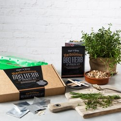 'Herbalicious' BBQ Herb & Smoking Gift Kit with Recipes, Seasonings & Hot Smoking Chips