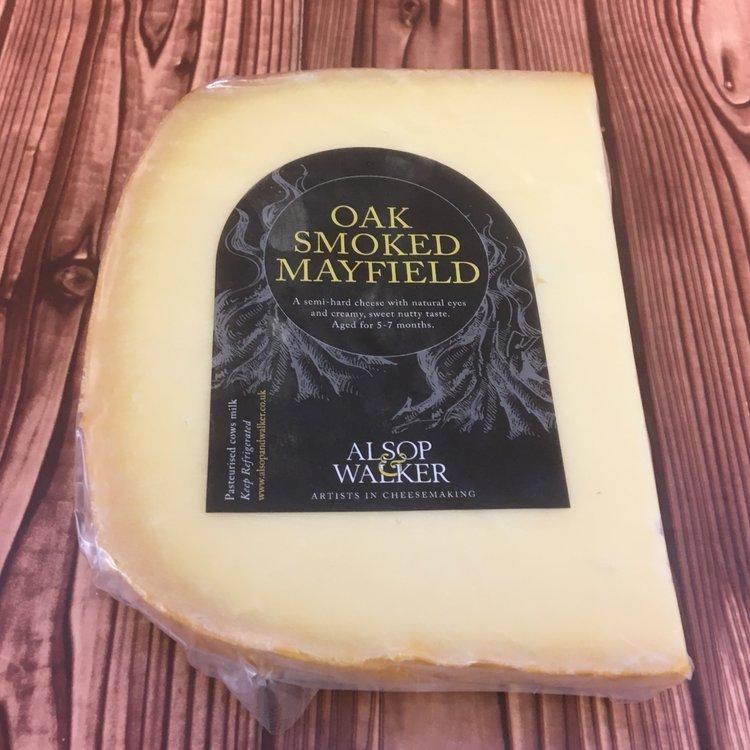 Oak Smoked Mayfield Swiss Emmental Style Cheese 160g by Alsop & Walker