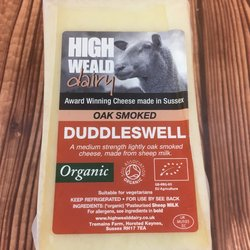 Oak Smoked Duddleswell Hard Cheddar Style Sheep's Milk Cheese 140g by High Weald Dairy