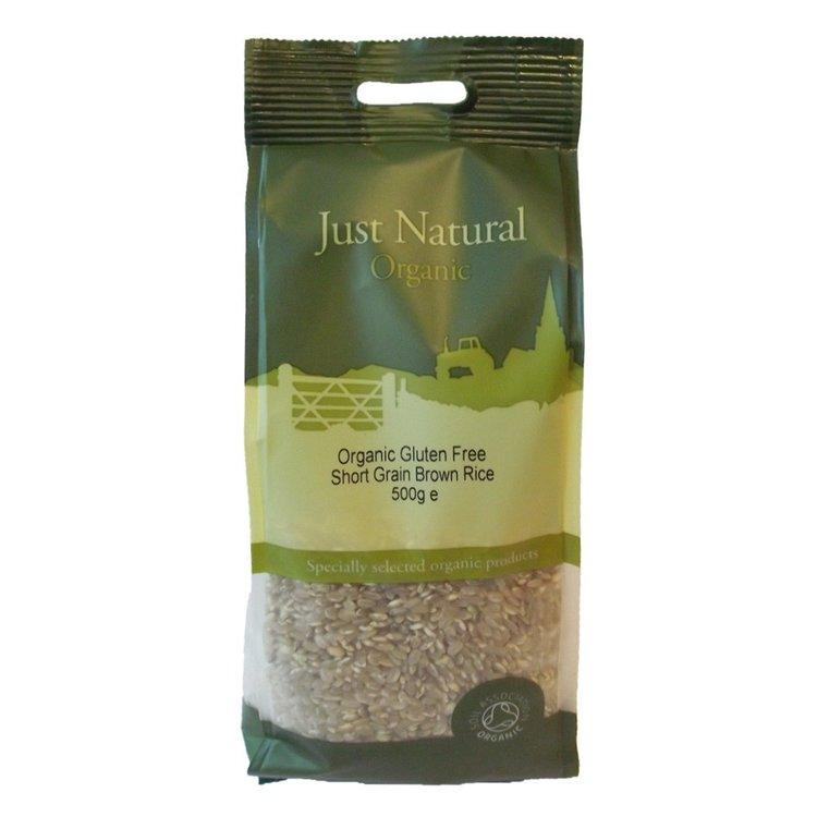 Just natural gluten free short grain brown rice 500g