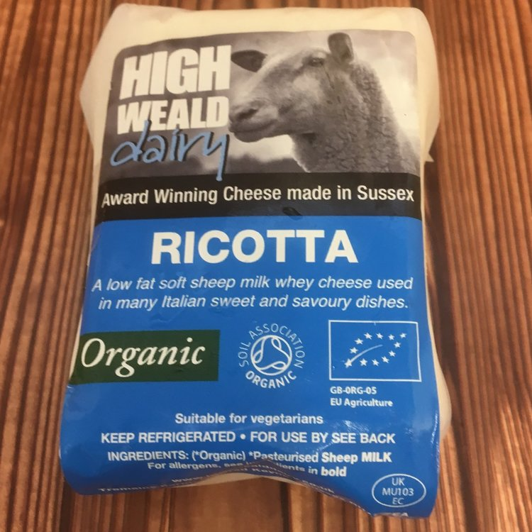 Organic Sussex Ricotta Soft Cheese 150g by High Weald Dairy