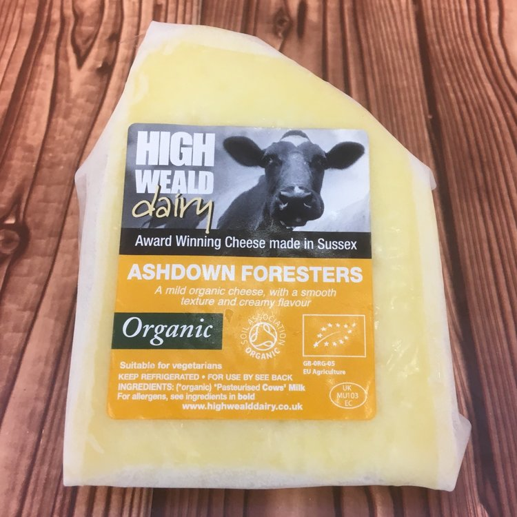 Organic Sussex Ashdown Foresters Gouda Style Cheese 150g by High Weald Dairy