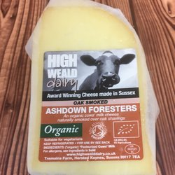 Organic Oak Smoked Foresters Gouda Style Cheese 150g by High Weald Dairy
