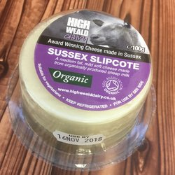 Organic Slipcote Sheep's Milk Soft Cheese 100g by High Weald Dairy