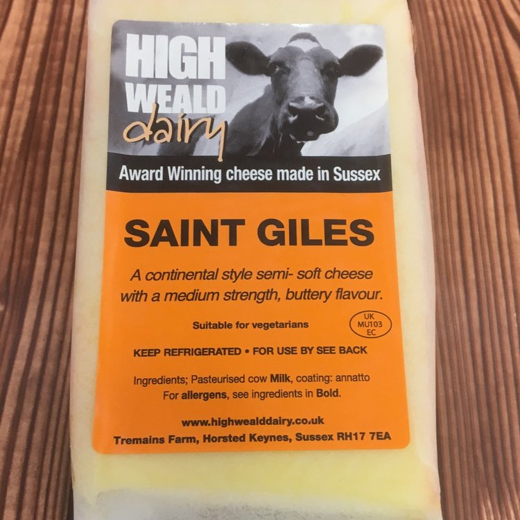 St Giles Semi-Soft Saint Paulin Style Cheese 140g by High Weald Dairy
