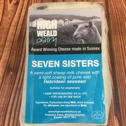 Seven Sisters Semi-Soft Sheep's Milk Cheese with Hebridean Seaweed 140g by High Weald Dairy