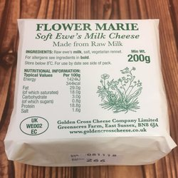 Flower Marie Soft Ewe's Raw Milk Cheese 200g by Golden Cross Cheese