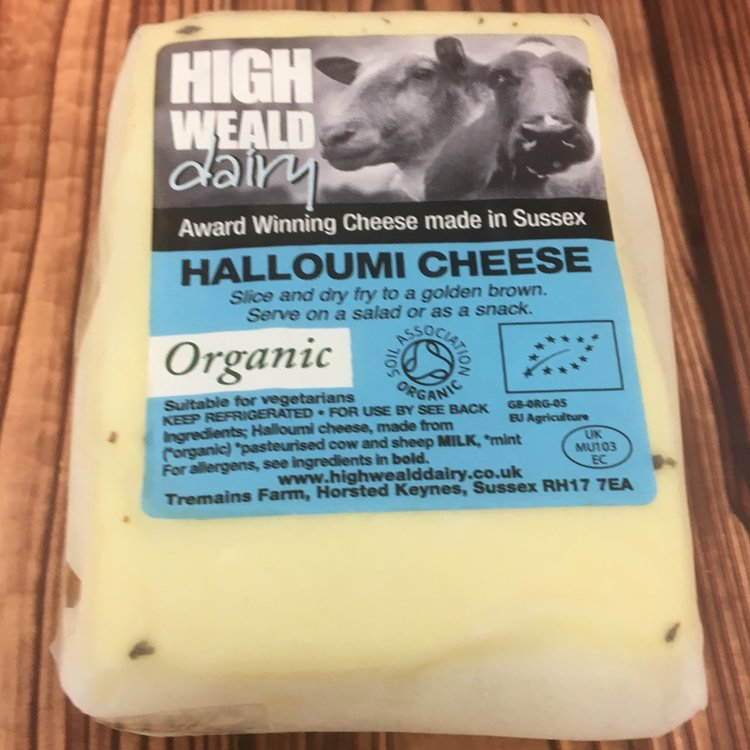 Organic Sussex Halloumi Cheese 190g by High Weald Dairy