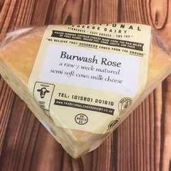 Burwash Rose Water Washed Semi-Soft Cheese 150g by Traditional Cheese Dairy