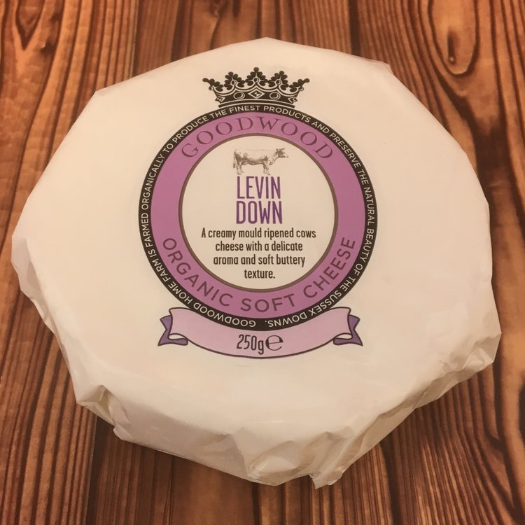 Organic Levin Down Soft Cheese 250g by Goodwood Estate