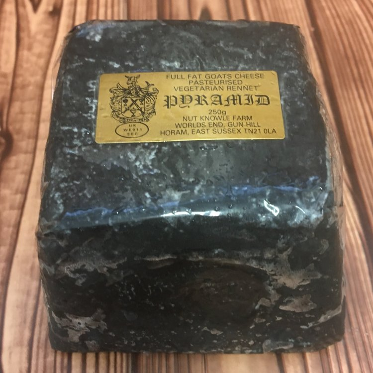 Sussex Ash Coated Goat's Cheese 250g by Nut Knowle Farm