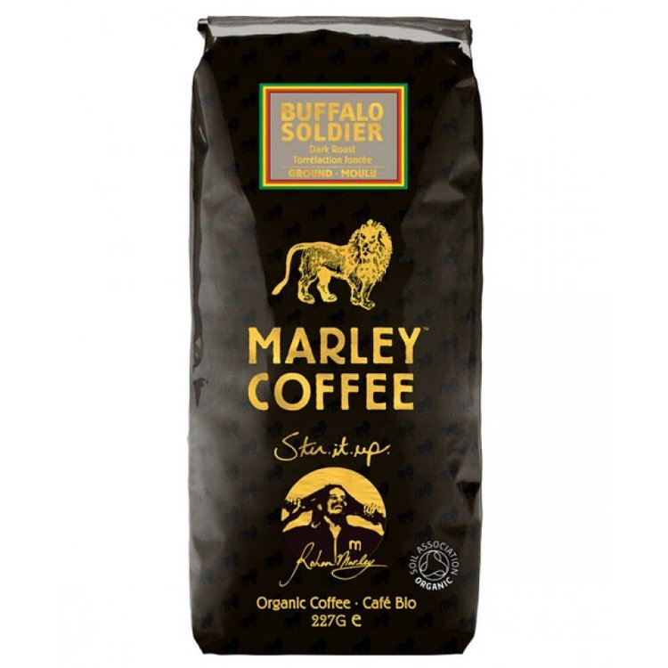 Buffalo Soldier Organic Ground Dark Roast Coffee 227g
