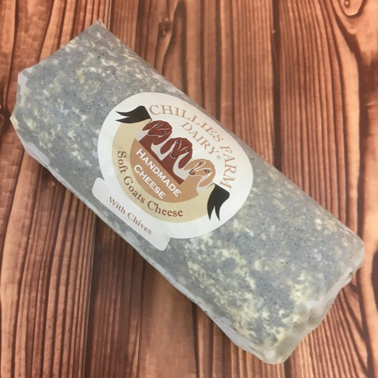 Sussex Chive Goats Cheese Log 240g by Chillies Farm