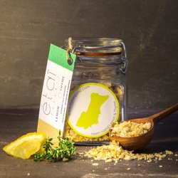 Lemon & Thyme Guernsey Sea Salt Crystals 60g Jar (Organic)