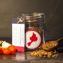 Sun-Dried Tomato & Roast Garlic Guernsey Sea Salt Crystals 60g Jar (Organic)