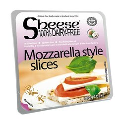 Dairy-Free Mozzarella Style Vegan Cheese ('Sheese') Slices 200g by Bute Island
