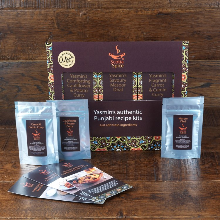 Vegetarian Punjabi Curry Spice Blend Recipe Gift Set