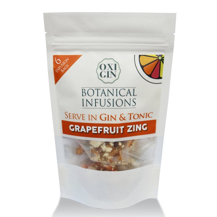 6 'Grapefruit Zing' Botanical Infusion Bags for Gin & Tonic