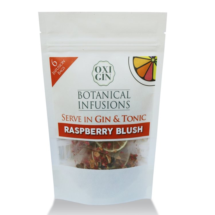 6 'Raspberry Blush' Botanical Infusion Bags for Gin & Tonic