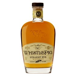 WhistlePig 10 Year Aged Straight Rye Whiskey 100-Proof 750ml 50% ABV