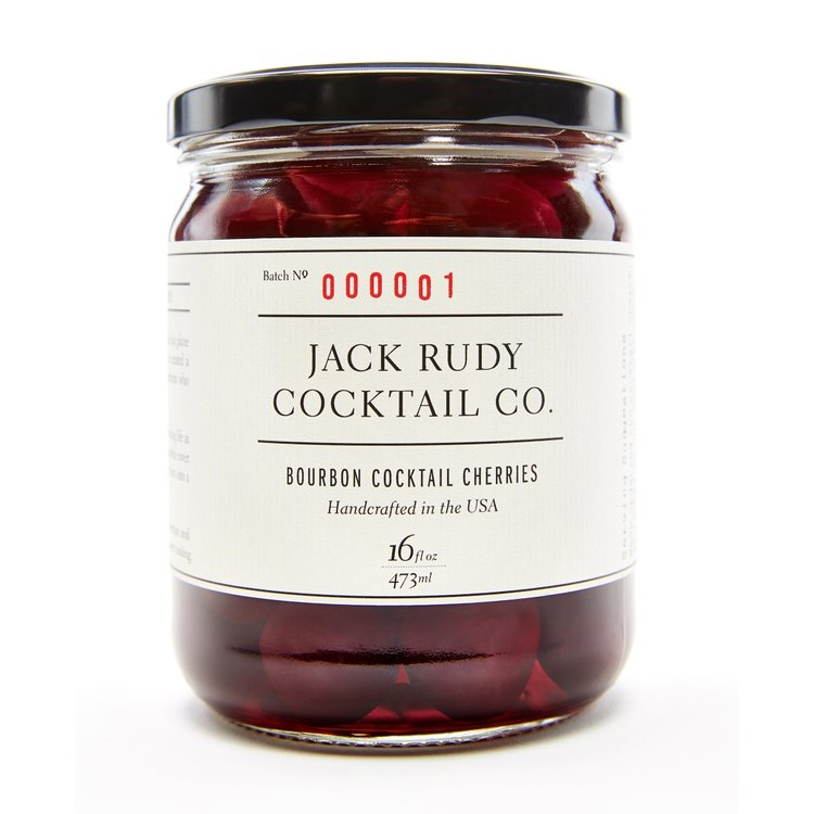 Bourbon Cocktail Cherries (Pitted) by Jack Rudy Cocktail Co. 700g