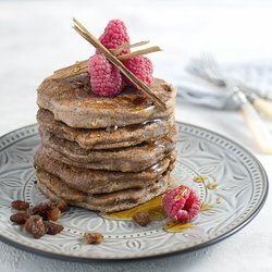 Cinnamon & Sultana 'Perfectly Puffed' Pancake Baking Mix with Buckwheat & Maca 160g