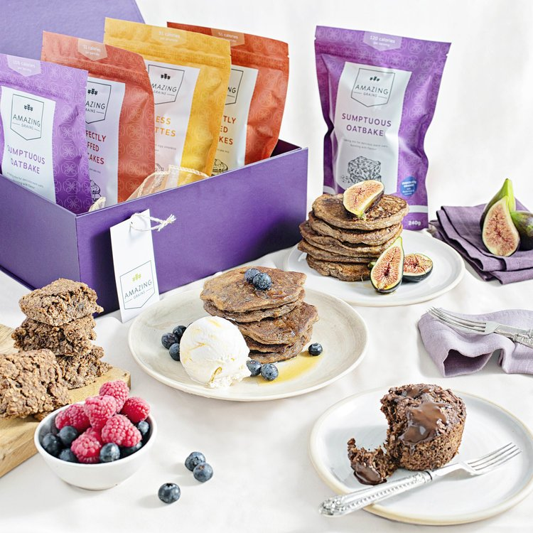 Limited Edition Luxury Baking Mix Hamper Inc. 3 x Baking Mixes, Chocolate & Peanut Butter