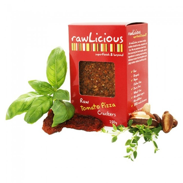 Rawlicious raw tomato pizza crackers 150g 2951