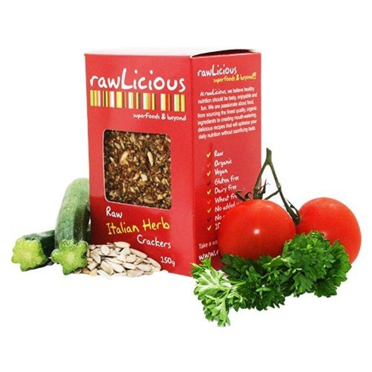 Rawlicious raw italian herb crackers 150g 2950