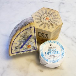 Essential British Cheese Board Selection Inc. Blue Stilton, Camembert & Cheddar Cheeses
