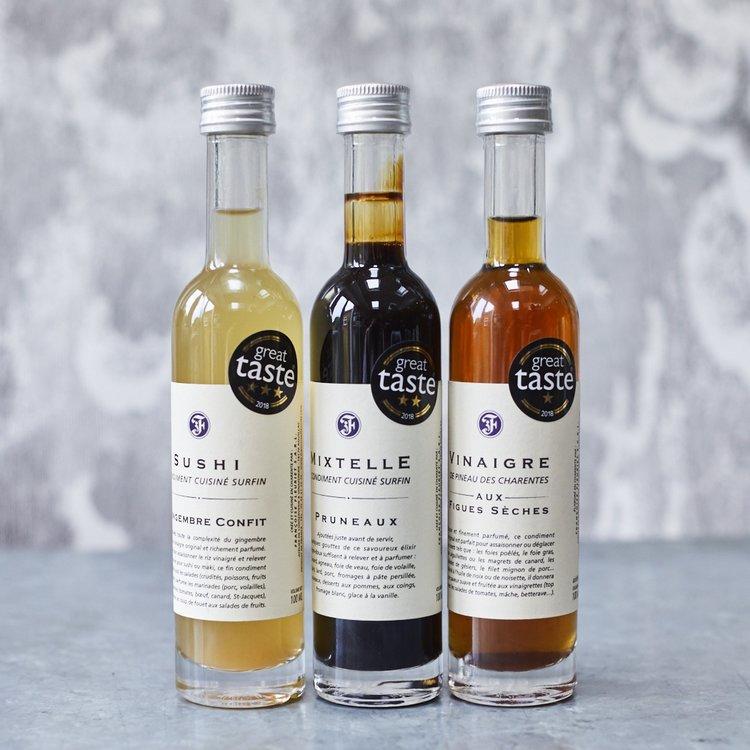 3 Great Taste Award-Winning French Vinegar Gift Set