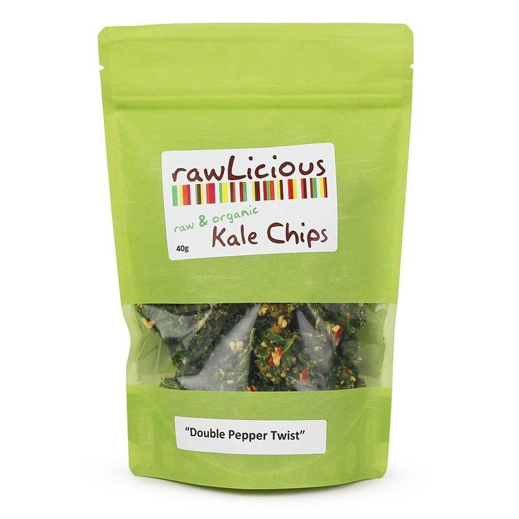 Rawlicious double pepper twist kale chips 40g