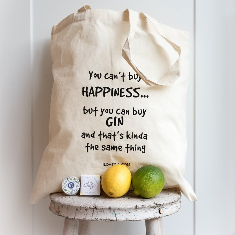 'You Can't Buy Happiness' Cotton Gin Lovers Tote Bag