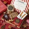 Christmas Letter Box Gift Hamper Inc. Hazelnut & Raisin Chocolate, Scottish Shortbread & Plymouth Sloe Gin