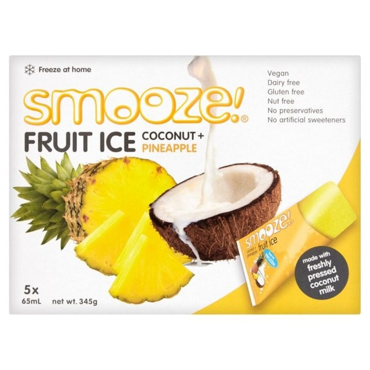 Smooze fruit ice coconut and pineapple 5 x 65ml