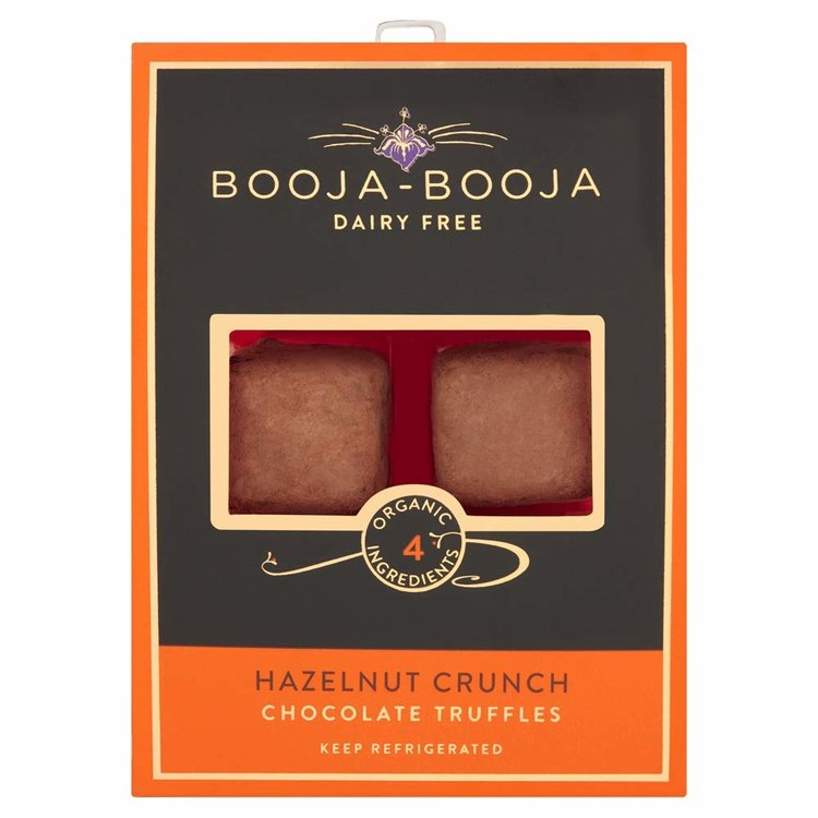 Hazelnut Crunch Organic Chocolate Truffles 69g by Booja-Booja (Dairy Free, Vegan)