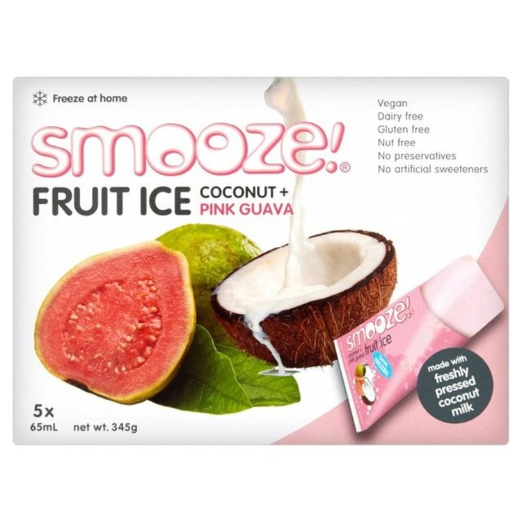 Smooze fruit ice coconut and pink guava 5 x 65ml