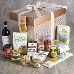 Luxury Gluten-Free Italian Gift Hamper Inc. Wine, Pasta, Olive Oil, Pesto & Figs