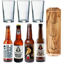Gluten-Free Beer Lovers Gift Set Inc. Paddle Board, Glasses & 4 Beers
