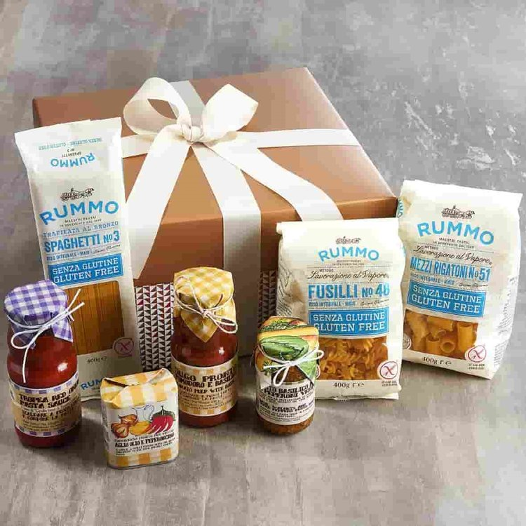 Gluten-Free 'Pasta Passion' Italian Gift Hamper Inc. Pasta, Sauces, Oil & Pesto