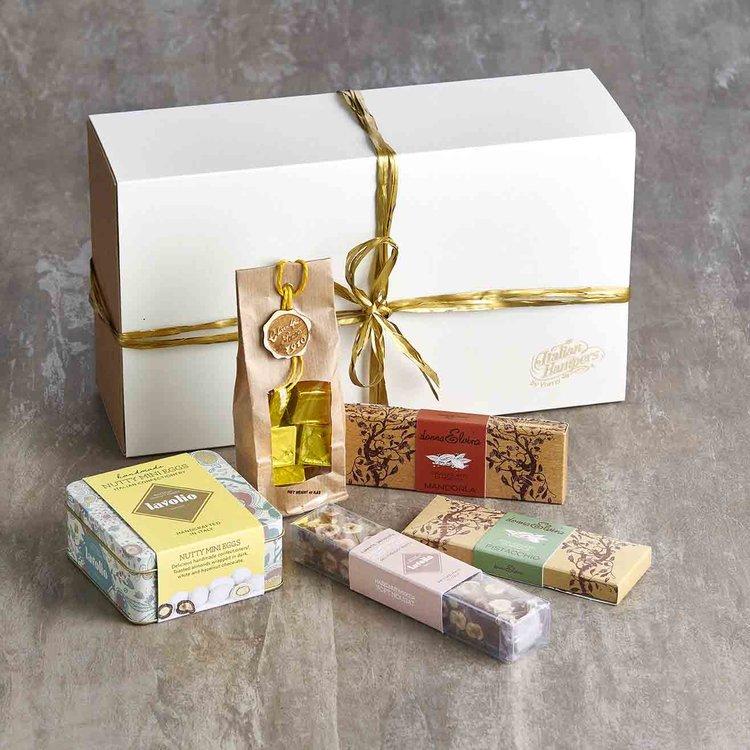 Italian 'Chocolate Lovers' Gift Box Inc. Filled, Coated Fig Bites, Mini Eggs & Modican Chocolate