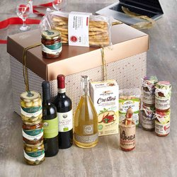 'Office Party' Italian Gift Hamper Inc. Wine, Prosecco, Taralli & Olives