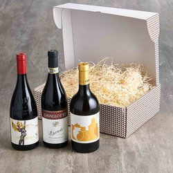 Italian Organic Wine Trio Gift Box with Red, White & Orange Wines