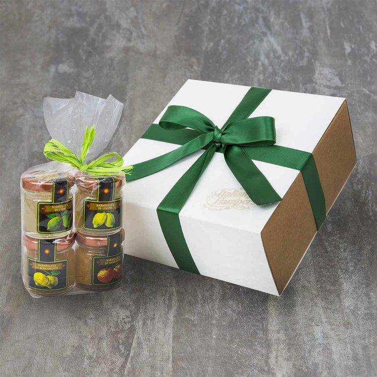 4 Italian Citrus Marmalade Gift Box with Bergamot, Cedro, Mandarin & Lemon Marmalades