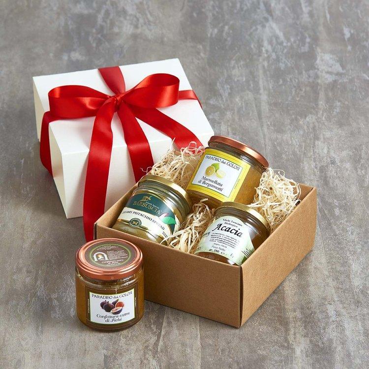 'Breakfast Sunshine' Italian Spreads Gift Box Inc. Marmalade, Jam & Honey